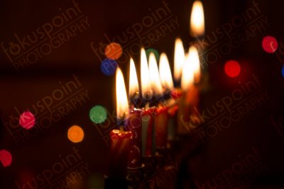 Menorah with eight candles