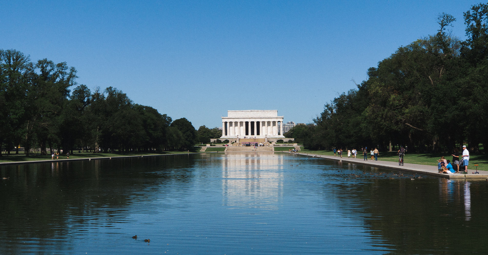 Tranquillity at the Lincoln Memorial Reflecting Pool
